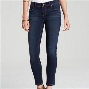 Free People Dark Wash Skinny Jeans sz 25